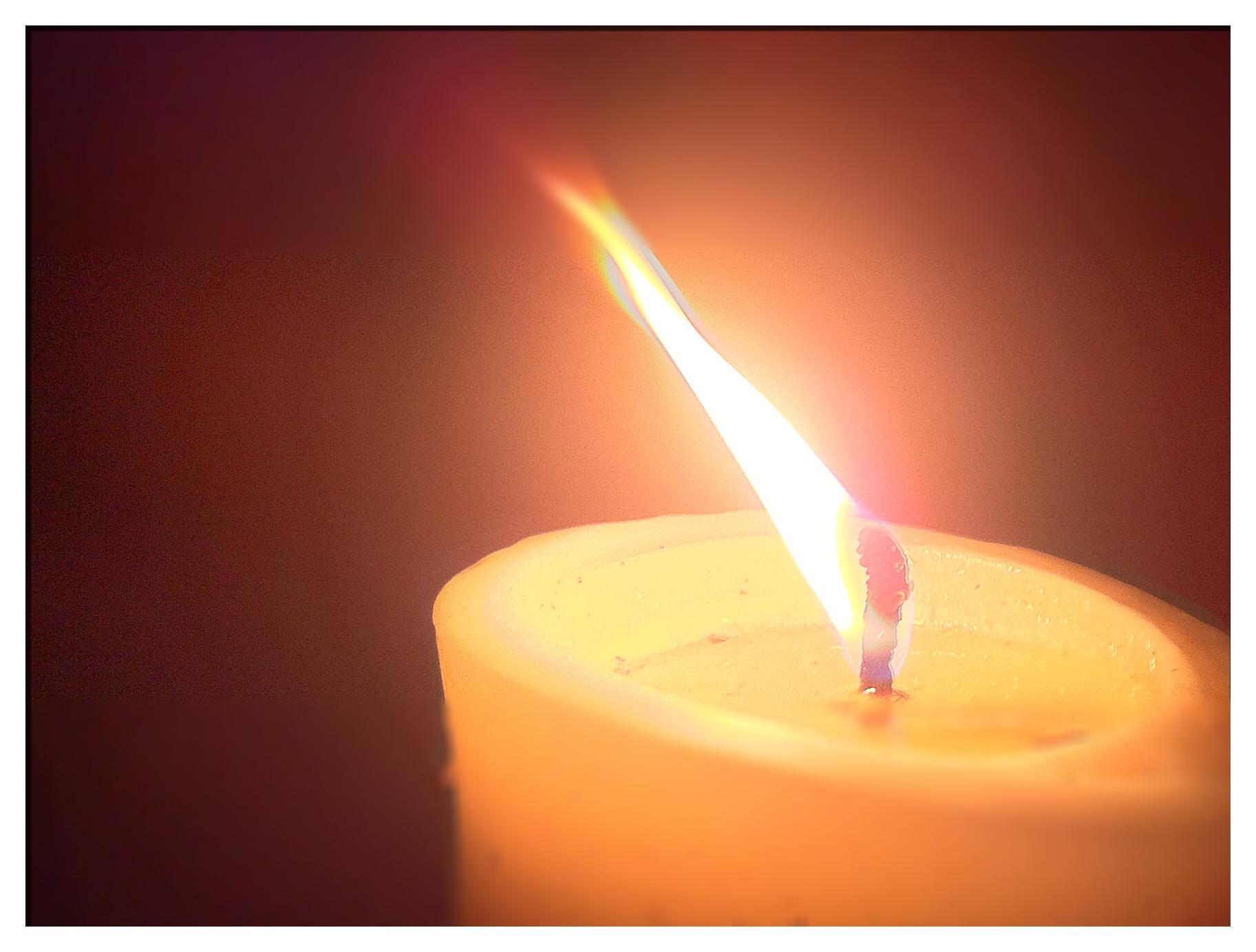 Die Kerze auf unserer Terrasse sagt Gute Nacht...!