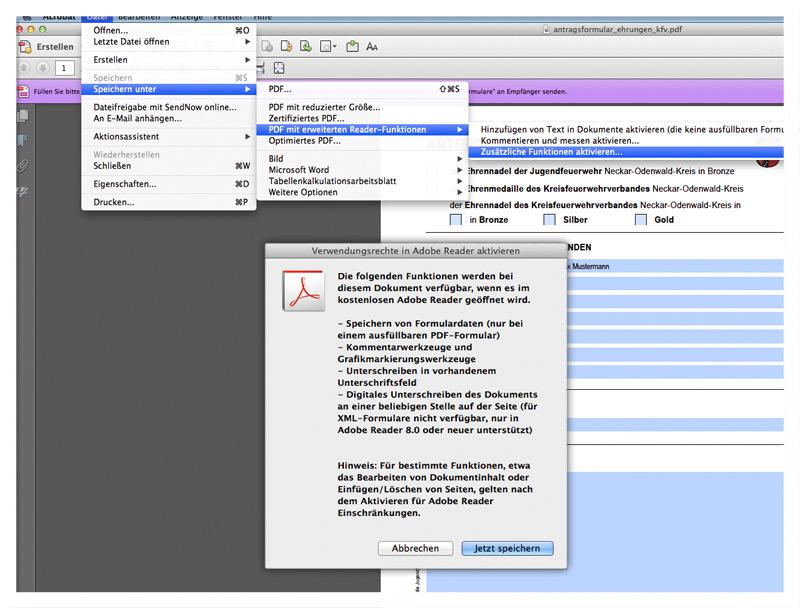 PDF-Formulare für Adobe Reader aktivieren
