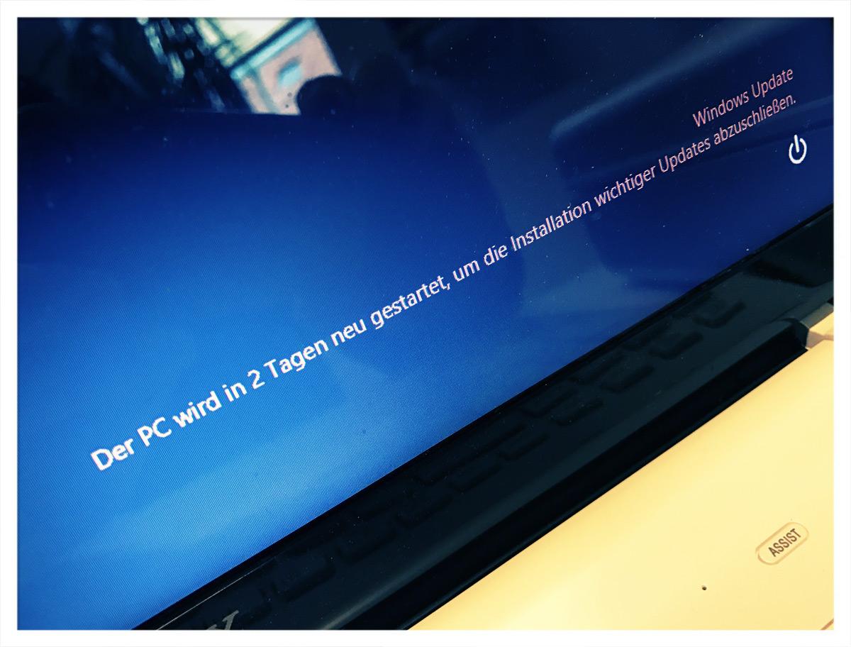 Der PC wird in 2 Tagen neu gestartet