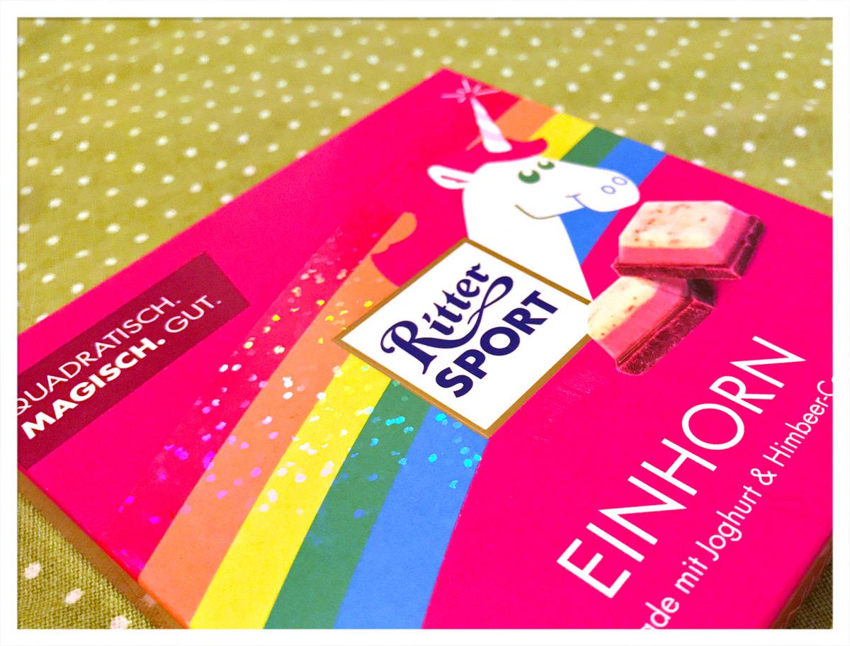 Einhorn-Schokolade von Ritter-Sport