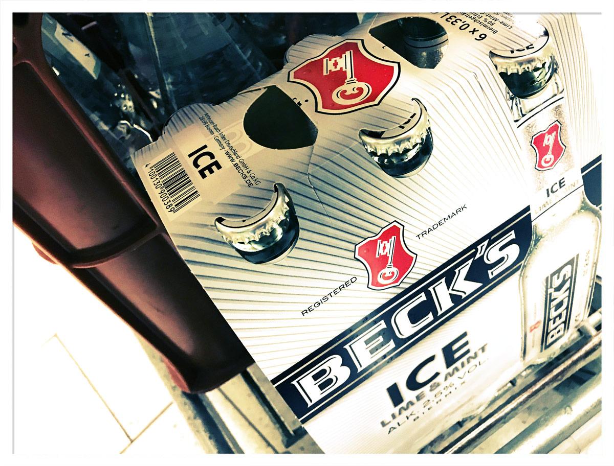 Unter bestimmten Umständen kauft man(n) sogar Beck's Ice