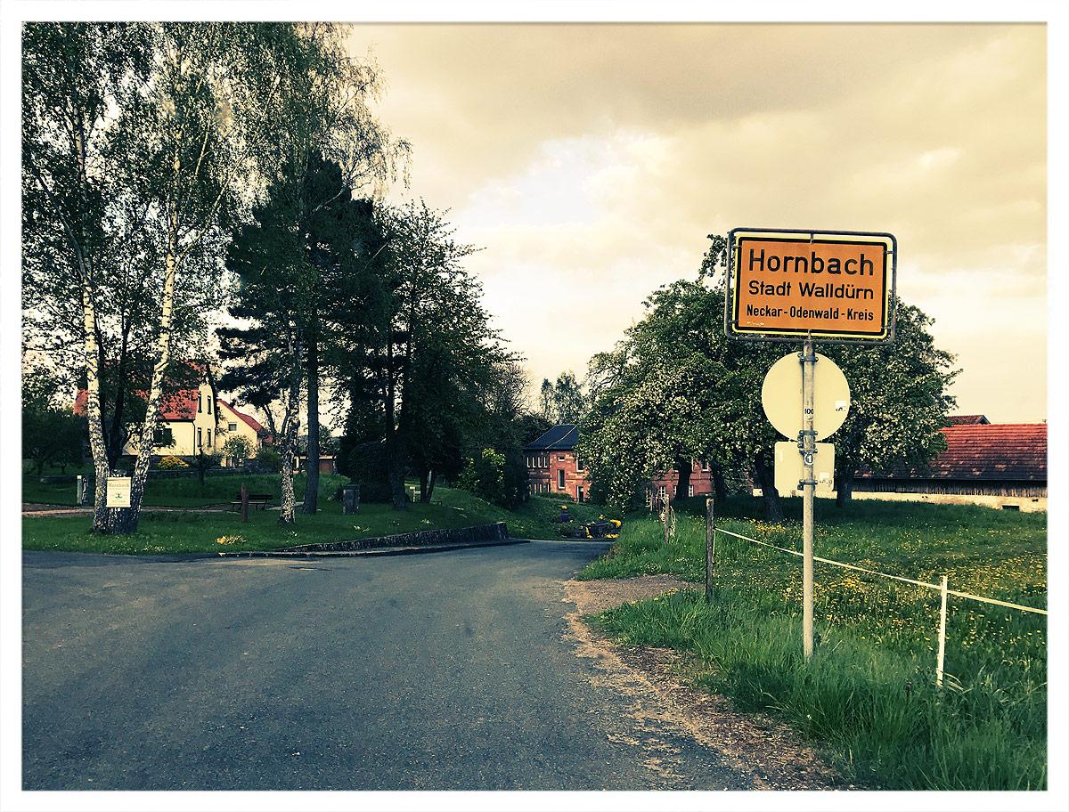 Ortsschild Hornbach