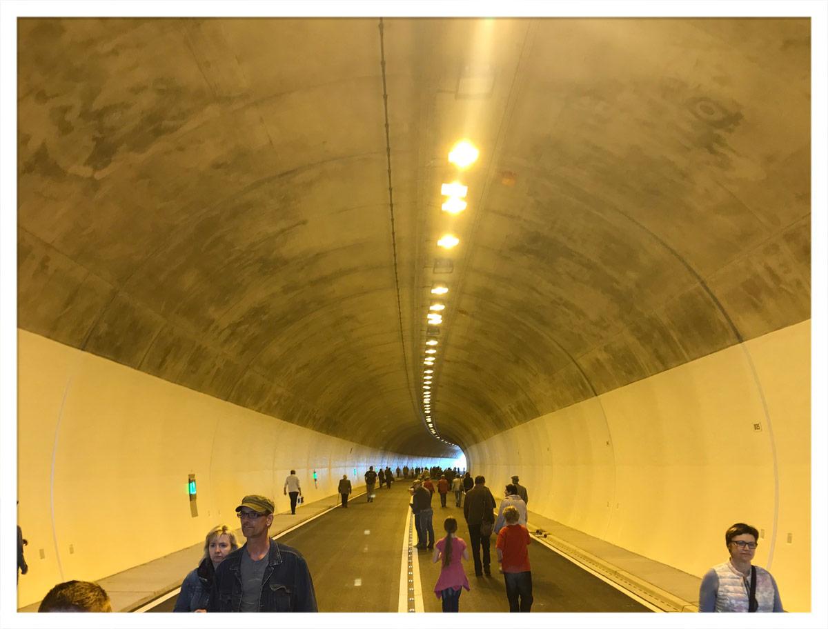 Von der Tunnelmitte aus Richtung Osterburken