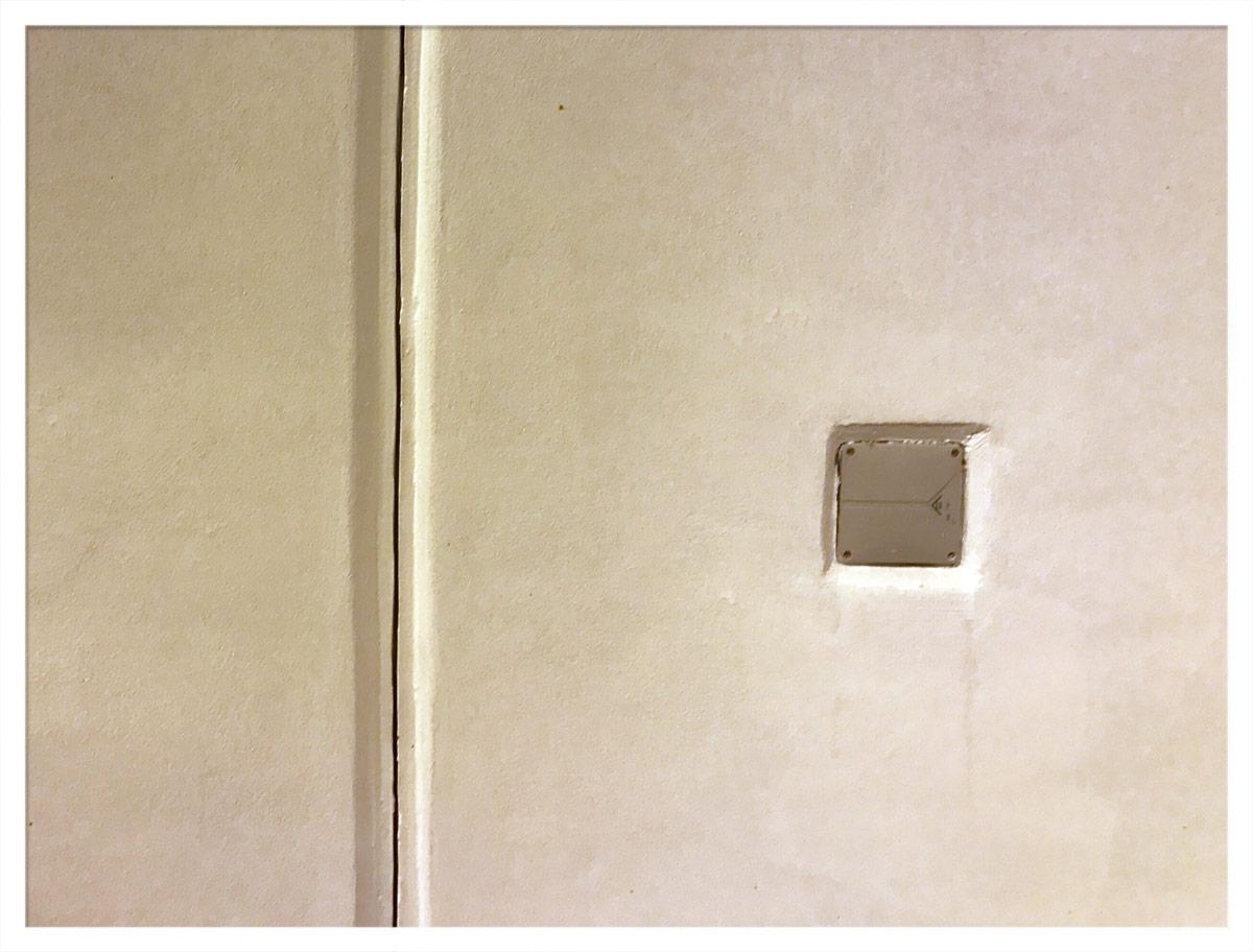 Weiße Wände