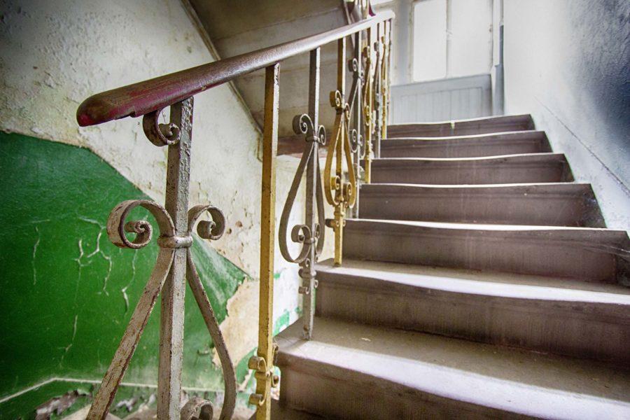 Treppe in Grün