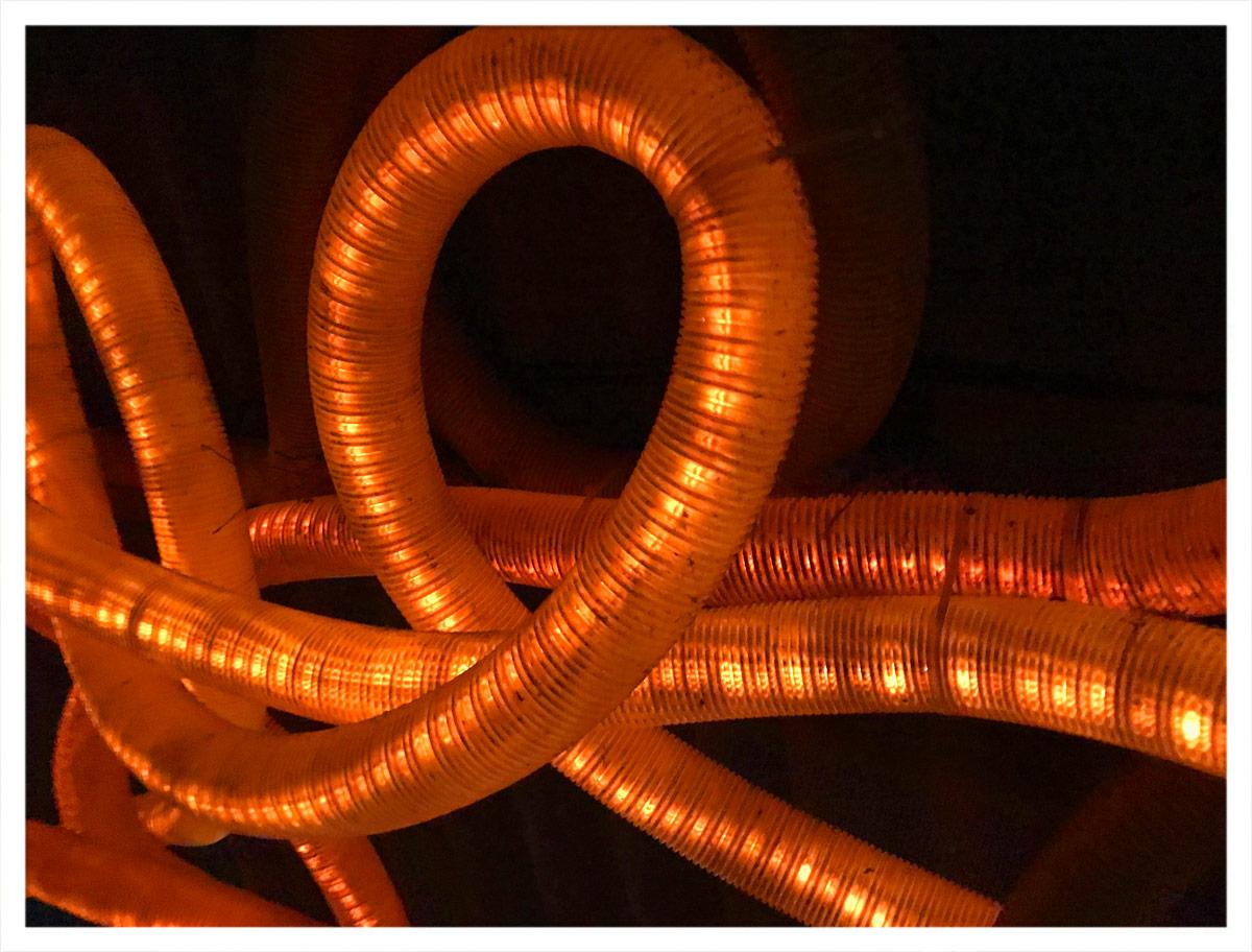 Beleuchtung im Raucherbereich der Halle02