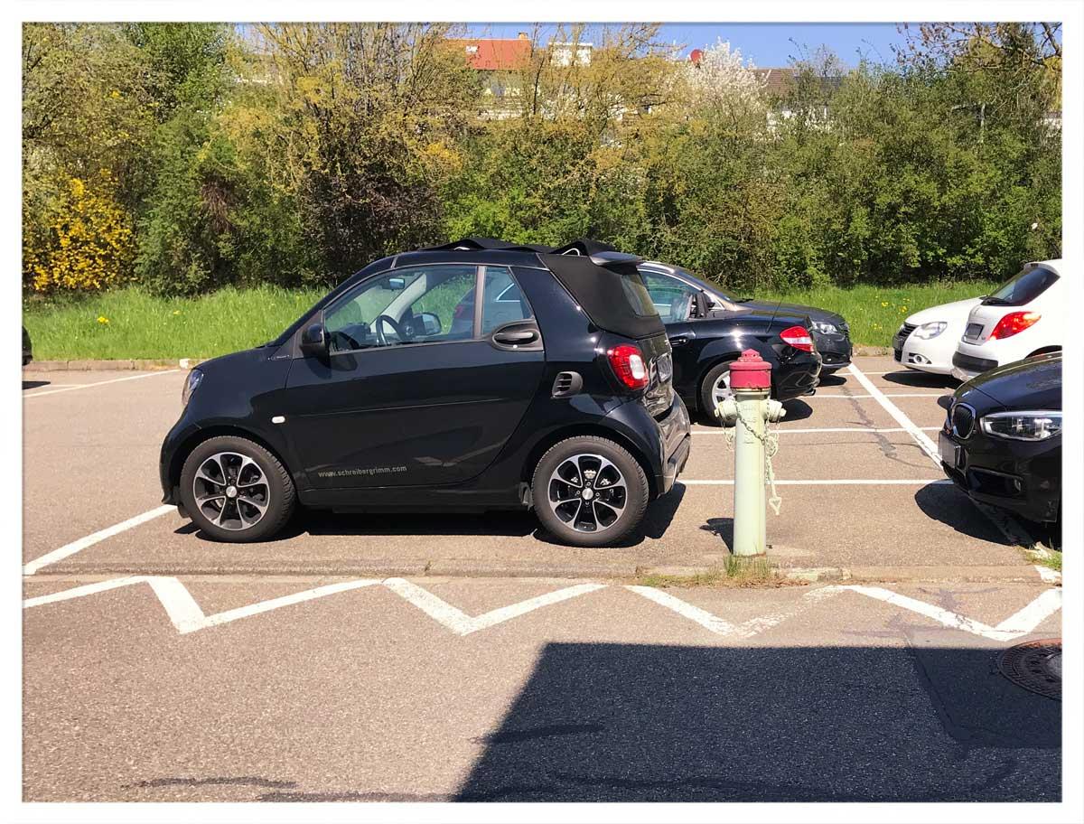 Smartes Parkplätzchen