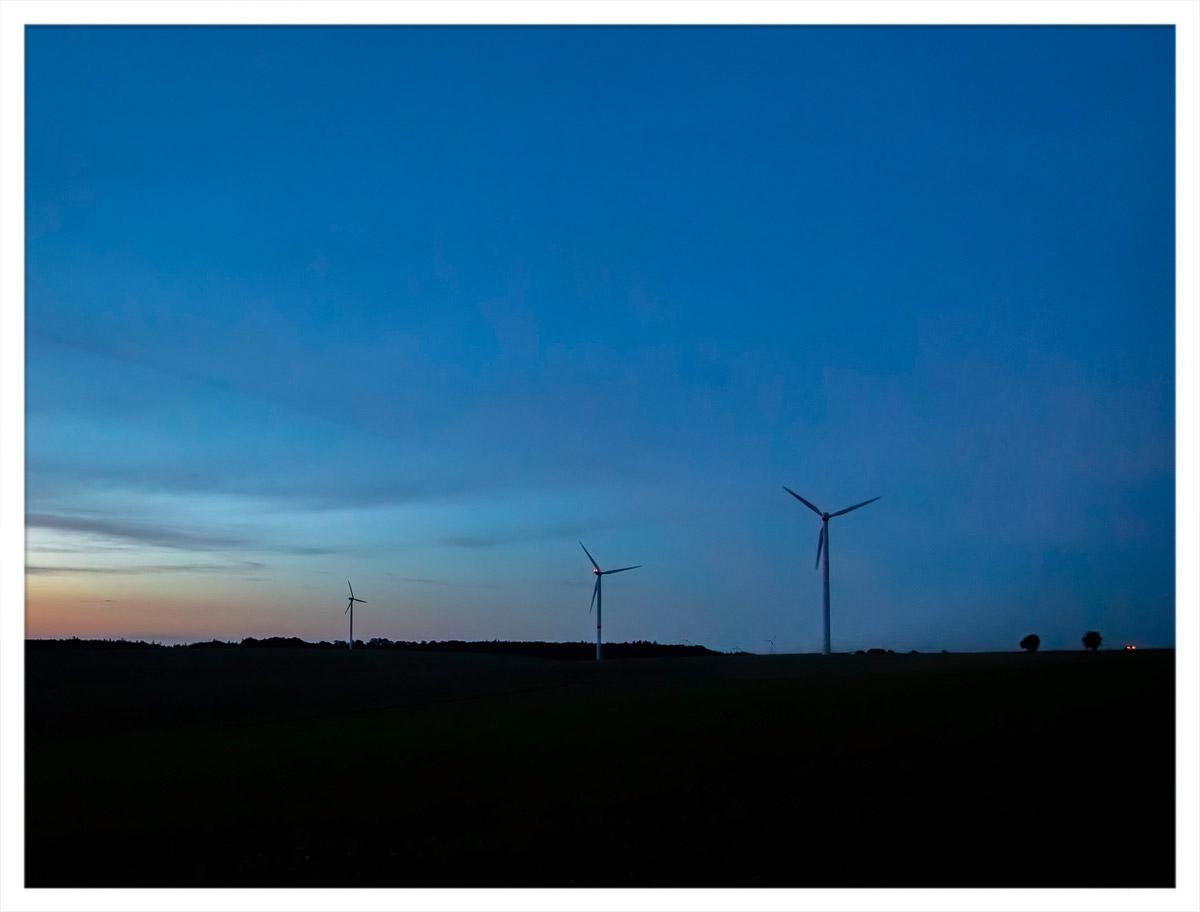 Windkrafträder zwischen Altheim und Gerichtstetten